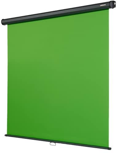 celexon Rollo Chroma Key Green-Screen zur Deckenmontage 200 x 190 cm - professionelle...