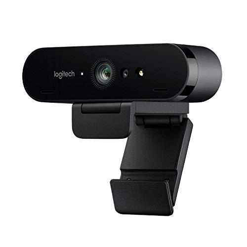 Logitech BRIO ULTRA-HD PRO Webcam, 4K HD 1080p, 5-fach Zoom, Hohe Bildfrequenz, HDR und RightLight...