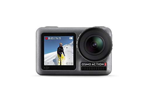 DJI Osmo Action Cam - Digitale Actionkamera mit 2 Bildschirmen 11m wasserdicht 4K HDR-Video 12MP...