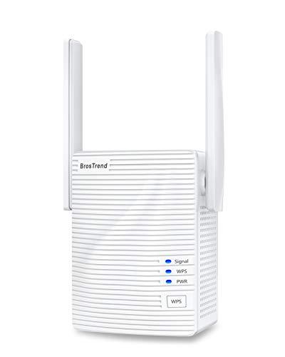 BrosTrend 1200 Mbit/s WLAN Repeater WLAN Verstärker für zu Hause, Abdeckung bis zu 110 m²,...