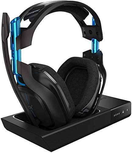 ASTRO A50 Wireless Gaming-Headset + Basisstation, 3. Generation, 7.1 Dolby Surround Sound, 5 GHz...