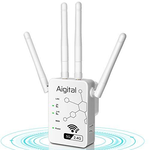 Aigital AC1200 WLAN Repeater Wi-Fi Booster Verstaerker Range Extender Booster...