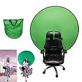 AMZBEST Greenscreen Stuhl, Faltbar und Einfach Zu Speichern Remote Arbeit Greenscreen Hintergrund,...