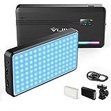 LED Videoleuchte RGB mit Eingebautem Akku,Dimmbare Videolicht 2500K-9000K, LED Kamera Licht...