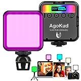 AgoKud LED Videoleuchte mit Eingebautem Akku LED Video Licht, Mini Dimmbare Videolicht 3200K-5600K,...