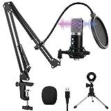USB Mikrofon, VANBAR Professioneller 192KHz/24 Bit USB PC Laptop Mikrofon Kondensator Microphone Kit...