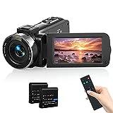 Videokamera Camcorder, MELCAM 1080P 30FPS Vlogging Kamera Recorder für YouTube, FHD IR Nachtsicht...