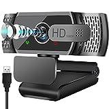 Full HD1080P Webcam mit Mikrofon, Automatischer Lichtkorrektur, Neefeaer USB PC Webcam mit...