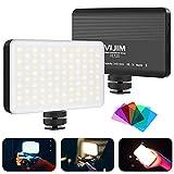 Led Videoleuchte, VIJIM VL120 Klein Kamera Licht Dimmbare, 3200k-5600k, Video Licht mit 3100mAh...