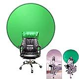 Q-WOOFF Greenscreen ,Hintergrund Fotografie ,Hintergrundtuch Mit 142 cm Durchmesser Und...
