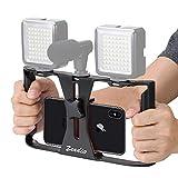 Zeadio Smartphone Video Rig, Kameratechnik Aufnahme vlogging Rig Handy, Handy Filme Halterung...