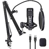 USB Mikrofon für PC Kit, Budbof Kondensator Mikrofon für Gaming, Podcast, Streaming, Studio,...