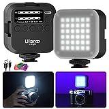 LED Videoleuchte Video Licht Kameralicht mit Softbox und 6 Farbfiltern, Minitragbares LED Kamera...