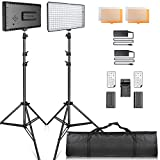 Video Licht LED, SAMTIAN LED Videoleuchte Kit FotografieBeleuchtung mit Ständer LED Panel Set...