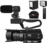 Videokamera 4K Neueste Autofokus Video Camcorder 48MP 60FPS 30X Digitalzoom-Camcorder Full Hd mit...