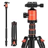 GEEKOTO Stativ Kamera Stativ 200cm, Aluminum Reisestativ mit Einbeinstativ und 360° Panorama...