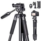 Kamera Stativ 170cm Erweiterbarer Camera stativ,universal stativ für die Kamera aus Aluminium...