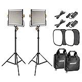 Neewer 2er-Pack 480 LED Videoleuchten Beleuchtung Set: Dimmbares zweifarbiges LED Tafel 3200-5600K...
