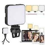 Videokonferenz-Beleuchtungsset, Laptop-Licht, Zoom-Beleuchtung mit Clip und Ständer,...