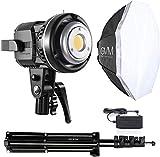 GVM LED Videoleuchte mit Softbox, LED Fotostudio Beleuchtung mit Stativ, CRI97+ 5600K Tageslicht...