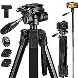 Victiv 182 cm Kamerastativ Aluminium Einbeinstativ T72 - Leicht und Kompakt Reisestativ für...