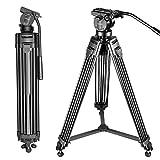 Neewer Professionell Aluminiumlegierung Video Kamera Stativ mit 360 Grad Fluid Drag Kopf,...