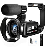 Camcorder Videokamera Full HD Camcorder 4K 48.0MP IR Nachtsicht Vlogging Kamera für YouTube 3.0'...