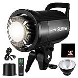 GODOX SL60W LED Video Leuchte 5600K 60W LED Dauerlicht Bowens Halterung Fernbedienung CRI95+ Qa90...
