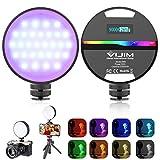 R66 Video Licht RGB Videoleuchte LED Licht Farbtemperatur 2500K-9000K Fotolicht mit Eingebautem akku...
