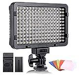 ESDDI LED Fotolicht, Videolicht, 176 LED Super Bright Dimming 3200-5600K, 5 Farbfilter, CRI 95+,...