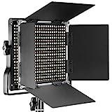 Neewer Dimmbare Bi-farbige LED mit u-Haltewinkel und Barndoor Berufsvideo-Licht für Studio,...