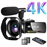 Camcorder 4K Video Camcorder 30.0MP18X Digital Zoom Ultra HD Vlogging Camcorder with Microphone 3'...