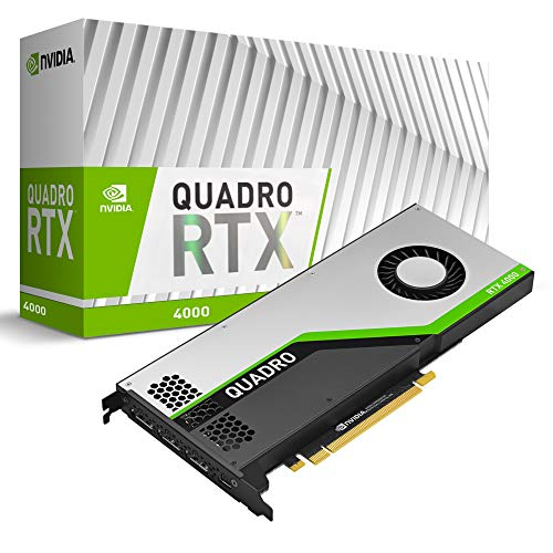PNY Quadro RTX 4000 Professional Grafikkarte 8GB GDDR6 PCI Express 3.0 x16, Single Slot, 3x...