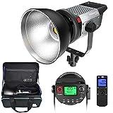 LED Videolicht, Pixel 120W 5600K Tageslicht COB LED Video Leuchte, mit Adapter, Fernbedienung und...