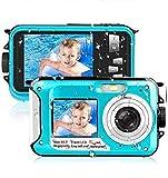 Unterwasserkamera Wasserdichte 2.7K 1080P FHD 48 MP Unterwasser Camcorder Dual Screen Videokamera...