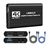 HDMI Capture Card 4K USB 3.0 Game Recorder 1080p 60fps Loop Out Capture Card für PS4 Mac Xbox one...