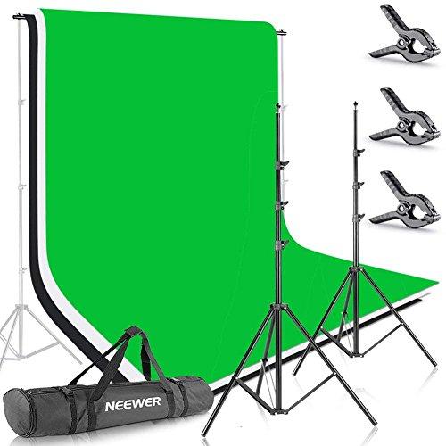 Neewer Foto Studio 2,6 X 3m Hintergrund Stativ Unterstützungssystem mit 1,8 X 2,8m Stoff Kulisse...