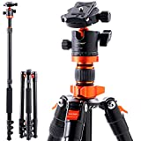 K&F Concept Kamerastativ SA254M1, Aluminium Stativ mit Einbeinstativ, 1/4 Zoll Gewinde Reisestativ...