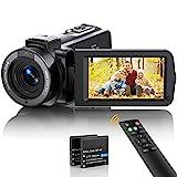 Videokamera Camcorder FHD 1080p 36MP Vlogging Kamera für YouTube IR Nachtsicht 30FPS Digitalkamera...