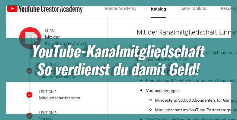 YouTube-Kanalmitgliedschaft – So verdienst du damit Geld!