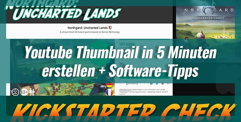 Youtube Thumbnail in 5 Minuten erstellen + Software-Tipps