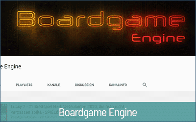 Boardgame Engine - Youtube Technik und Videokameras