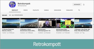 Streaming Technik von Retrokompott