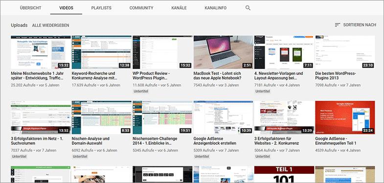 So findest du bei anderen YouTube-Kanälen die besten Video-Ideen!