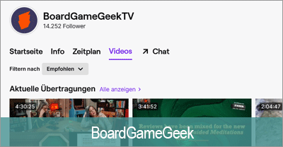 Streaming Software - BoardGameGeek