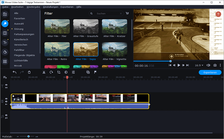 Videoschnittprogramm - Movavi Video Suite