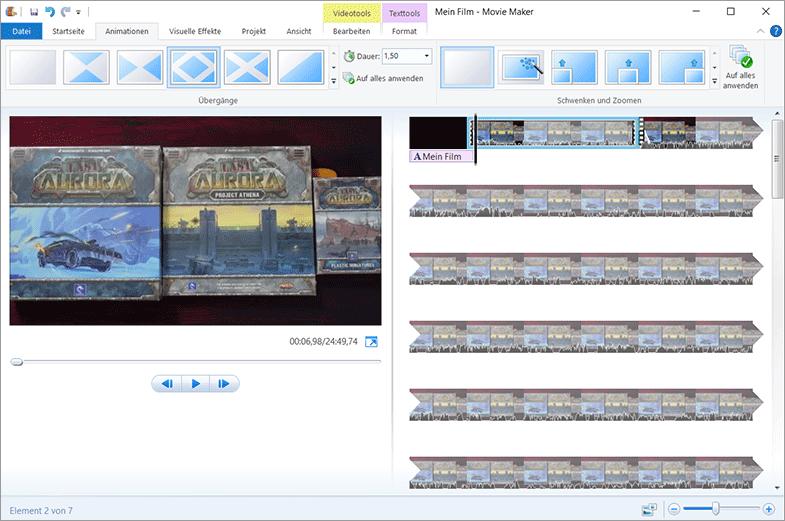 Videoschnittprogramm - Windows Movie Maker