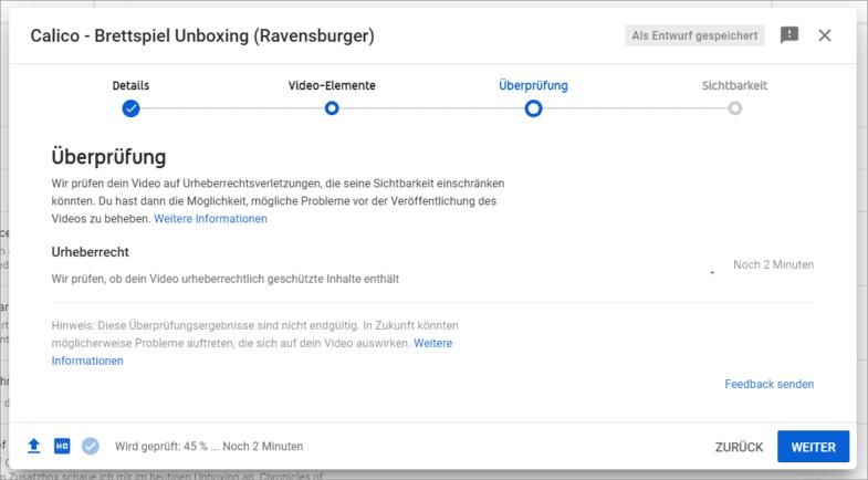 Urheberrechte-Prüfung auf YouTube – der Uploadfilter