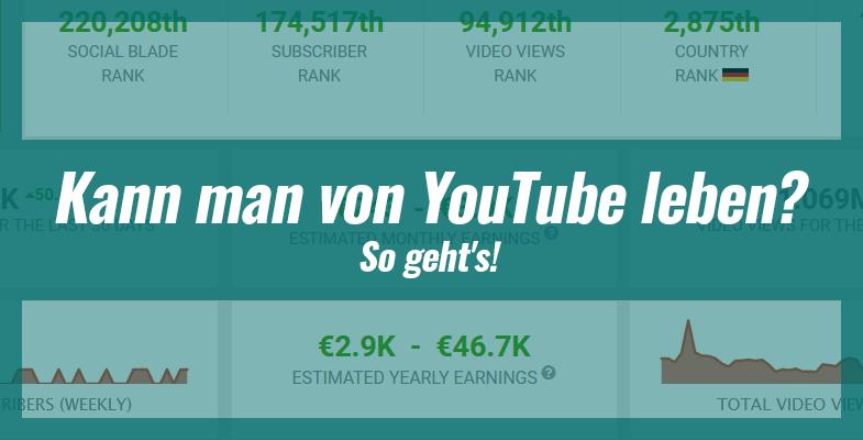 Kann man von YouTube leben? So geht's!