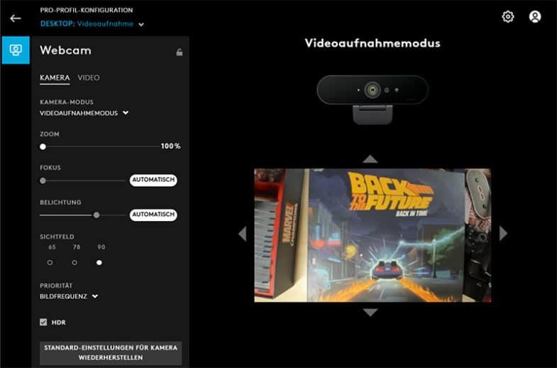 Logitech BRIO 4K Webcam - Software G Hub